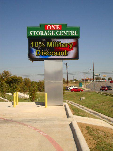 One Storage Centre signboard
