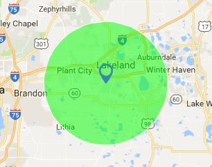 Alwin Elliott Painting LLC service area map