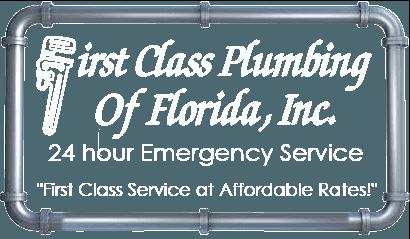 First Class Plumbing logo