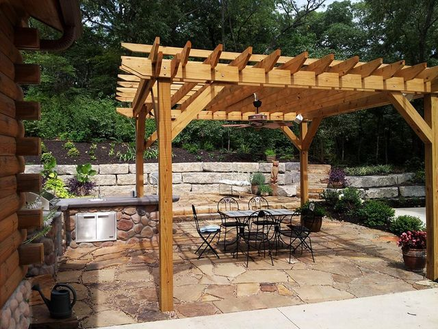 patio walkway design construction in lawrence kansas