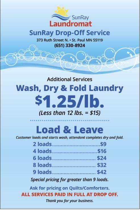Laundry Drop Off Pickup Saint Paul Mn