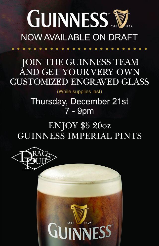 Guinness on draft