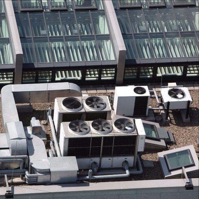 HVAC system on building roof