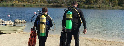 Diving lesson
