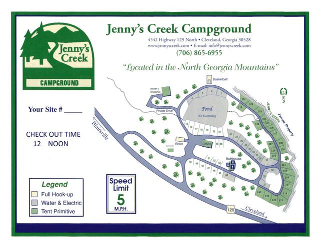 Map Campsites Cleveland Ga
