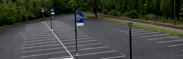 Line striping for parking lot