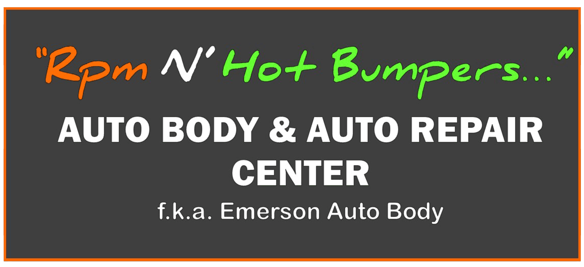 RPM 'N' Hot Bumpers fka. Emerson Auto Body - logo
