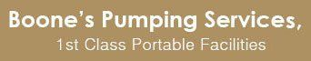 Boone's Pumping Services, 1st Class Portable Facilities  - Logo