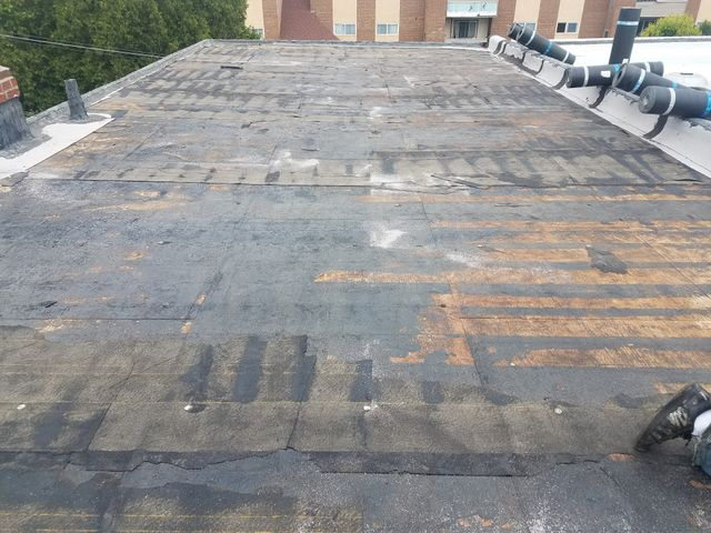 1st Choice Roofing Inc _ Roofing _ flat roof _ before