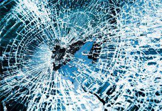 Damaged auto glass