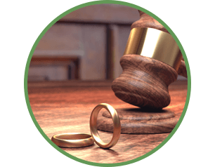 two rings and a gavel