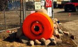 Orange Tire