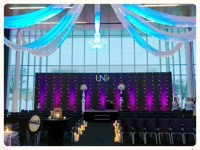 Event on the UND campus styled by Relax Event Studio
