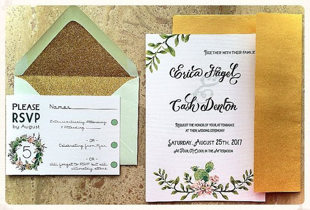 Custom designed wedding invitation by Relax Event Studio. Gorgeous & glam!