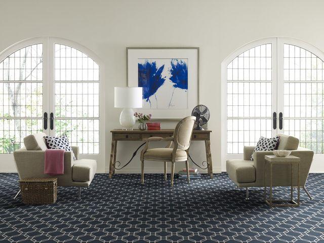 Floor with carpet