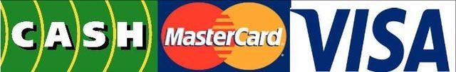 Discover, MasterCard, American Express, Personal Check, Cash, Visa Electron