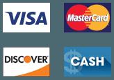Visa MasterCard Discover Cash