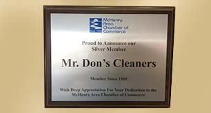 Mr. Don's Cleaners Inc. certificate