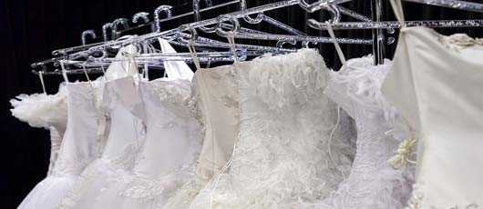 Wedding gown at store
