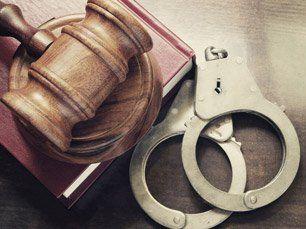 Judicial Hammer And Handcuff