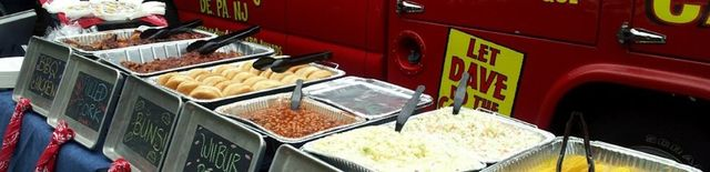 Catered Food in trays