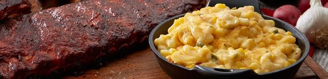 Mac N Cheese and Baby Back Ribs