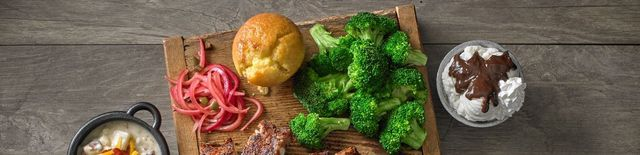 Broccoli bread and peppers