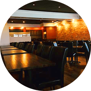 Large dining area for events