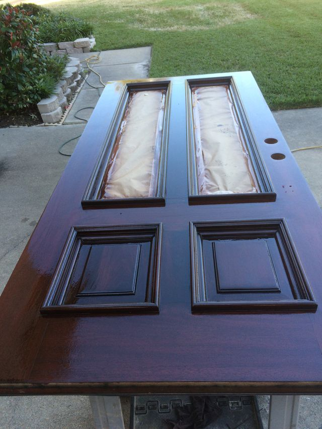 Front Door Refinish | Wood Door Repair | Houston, TX