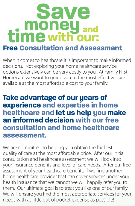 FREE Consultation and Assessment