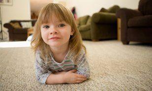 Kid on clean carpet