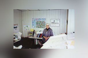 Frances in her office