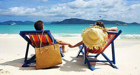 Couple at a beach