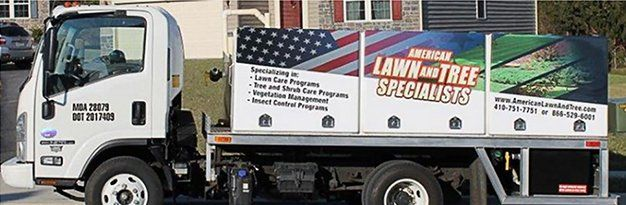 American Lawn and Tree Specalists Truck