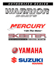 Warrior Boats, Mercury, Skeeter, Yamaha, Suzuki Marine