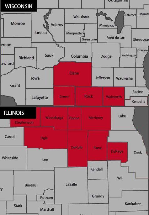 Ready Pest Control Service Area Map
