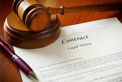 Contract with gavel