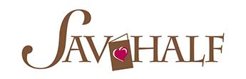 Sav-Half Greeting Cards & Gifts - Logo
