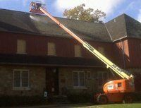 Power washing of the roof