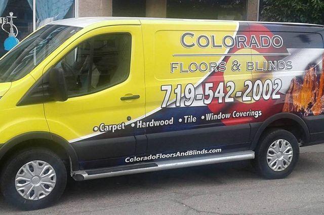 Colorado Floors & Blinds van