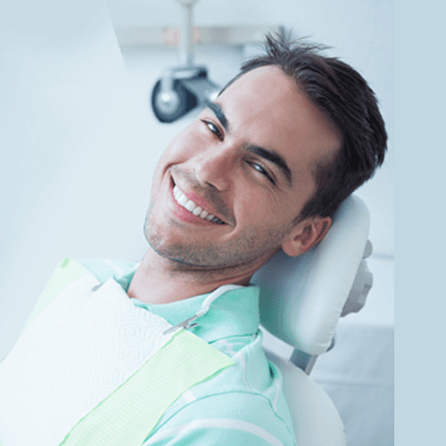young guy in dentist chair