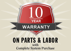 10 Year Warranty - Parts & Labor
