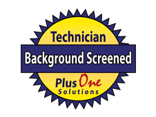 Technician Background Screened | Plus One Solutions