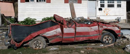 Junked car