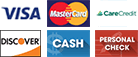 Visa, MasterCard, CareCredit, Discover, Cash, Personal check