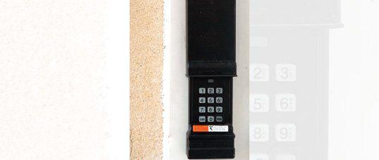keypad, garage, door